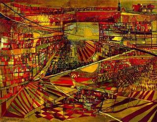 Vieira da Silva: Biblioteca. Fonte: http://sulanorte.blogs.sapo.pt/arquivo/Vieira%20da%20Silva,%20biblioteca.jpg