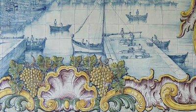 Azulejo. Doca do comércio. Setúbal. Foto do autor