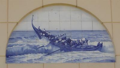 Azulejo. Praia de Mira. Foto do autor