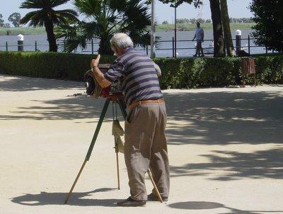 Fotógrafo a la minute. Vila Franca de Xira. Foto do autor