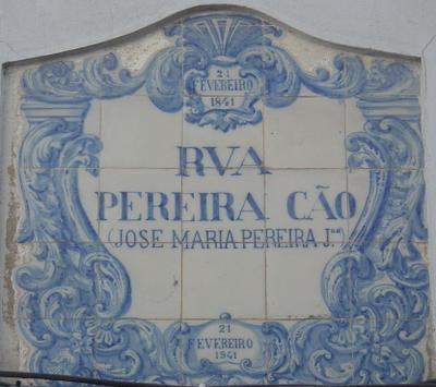 Rua Pereira Cão. Foto do autor