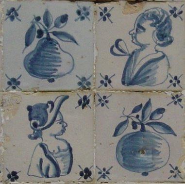 Azulejos de figura avulsa. Foto do autor