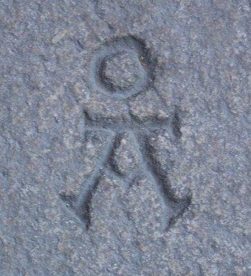 Marca de pedreiro. Foto do autor