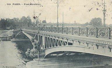 Pont Mirabeau. Fonte: http://www.lecannet.com/Biblio/le-pont-mirabeau.htm