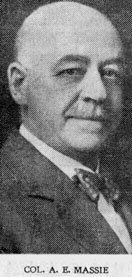 Lt.-Col. A.E. Massie, Commanding Officer of the Second Divisional Train, Courtesy of York County NB GenWeb