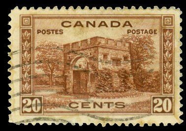 Fort Garry Gate - Canadian Definitive Stamp 20c Issued 15 June 1938