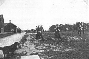 Canadian troops drilling on the parade grounds adjacent to the Shorncliffe Barracks, First World War