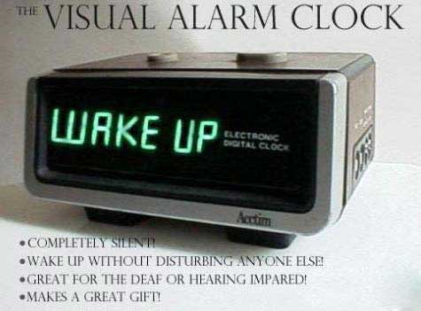 visual alarm