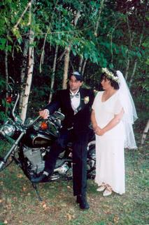 Al, Stacy, and the bike - by Joe Blades 19 June 2005