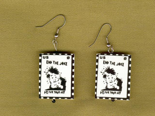 End the Joke earrings by Joe Blades (1988)