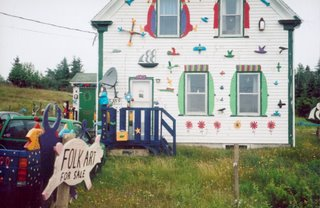 Barry Colpitts' house: Folk Art for Sale