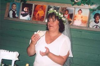 Stacy and the wedding cake-by Joe Blades 2005 - by Joe Blades 19 June 2005.