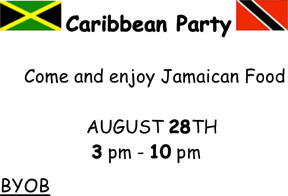 caribbean party invitation
