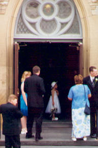 July 2004 unknown wedding at St Paul's United Church, Fredericton, NB. Photo by Joe Blades.