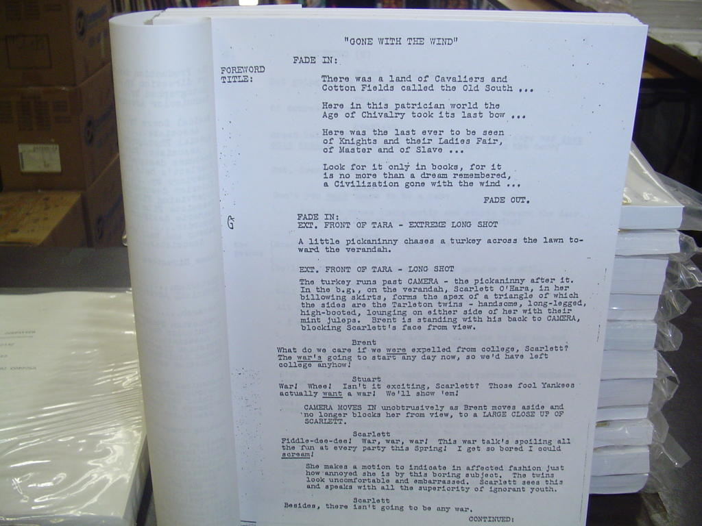 how to start a movie script