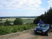 The MG-F and my good self enjoying Le Loir valley