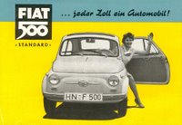 German Fiat 500 advertisement from the late 1950s
