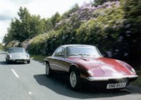 Two Spyder Cars Elans on the road