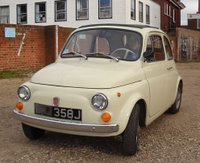 New historic British plates on the Fiat 500.