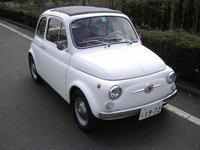 1965 to 1968 Fiat 500F (I think) with moustache badge