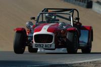 A Caterham kit in full flight at a Lotus On Track event