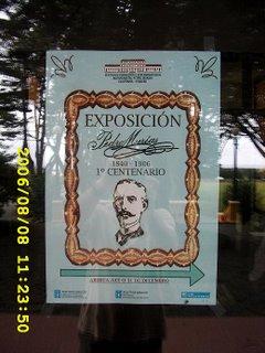 Cartel da exposición sobre Pedro Murias