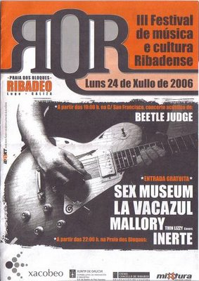 Cartel festival RQR en Ribadeo 2006