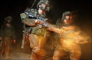 Israeli troops on the Lebanese Border