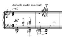 First three measures of Tosca