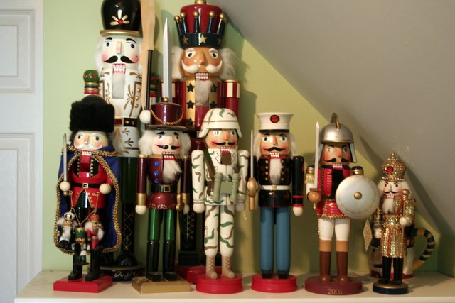 its fun to go shopping with austen when the holidays start because he is on a mission for more nutcrackers he has one very strict rule though