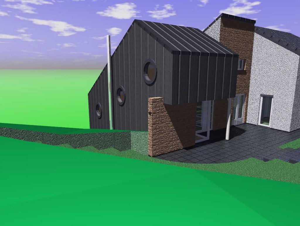 Extension Habitation axi(h)ome sprl - une architecture comptemporaine, différente et
