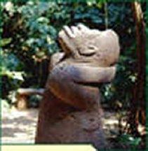 Figura Olmeca de Tabasco: Mono mirando al cielo