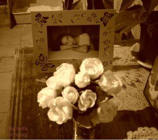 Un ramito de gardenias y mi foto
