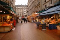 La rue Daguerre et ses marchés aux poissons