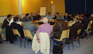 A partial view of the participants to the EuroUfo meetings.