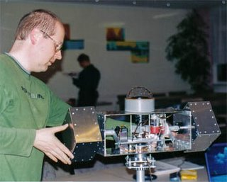Wolfgang Stelzig and the Sky Scan prototype.