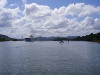 Crossing Gatun lake