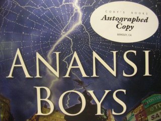 Anansi Boys Cody's Books Autograph Edition.
