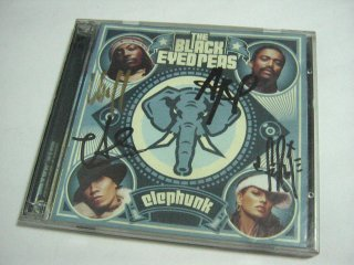 Signed Elephunk Album.