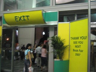 Exit out see you next year's Book Fair 2007.