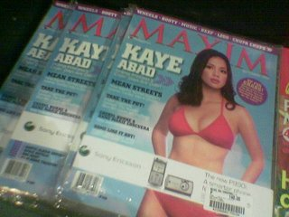 September 2006 -- Kaye Abad on Maxim Magazine?!