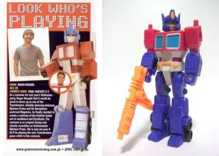 Remember Regan Renada as Optimus Prime?