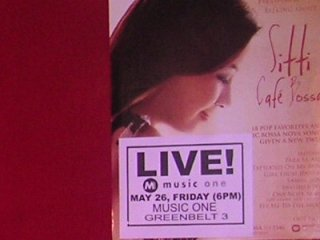 Sitti's promo poster at Music One.