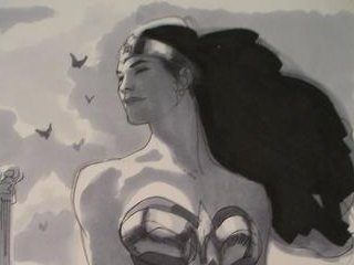 Wonder Woman art by Adam Hughes!