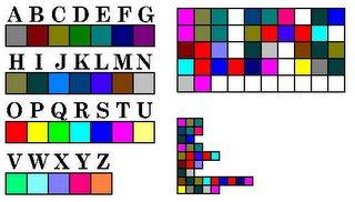 Microsoft Paint Code, Coded Sentence Shown 2 Ways