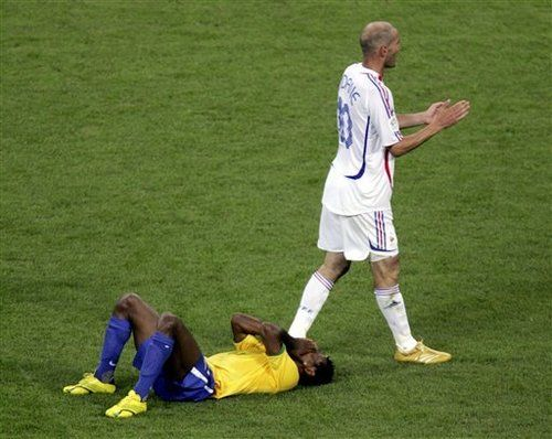 france eliminates brazil from the world cup 2006