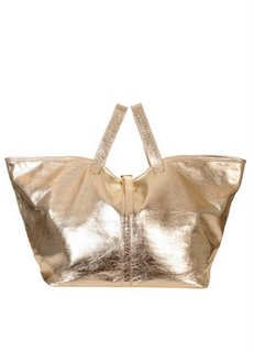 CoutureintheCity.com -   Meli' Melo' BB Slouchy Handbag :  gold handbags metallic handbags blondette meli melo