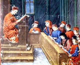 Rolandino de' Passaggeri in cattedra (1482)- filodiretto.com