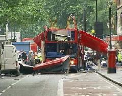 Bus esploso a Londra