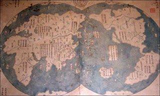 mappa cinese del mondo